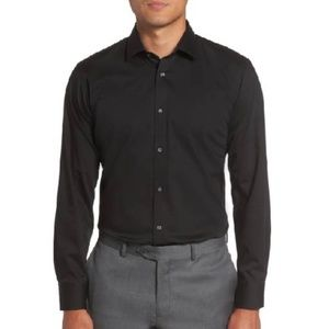 TED BAKER Caramor Trim Fit Solid Dress Shirt